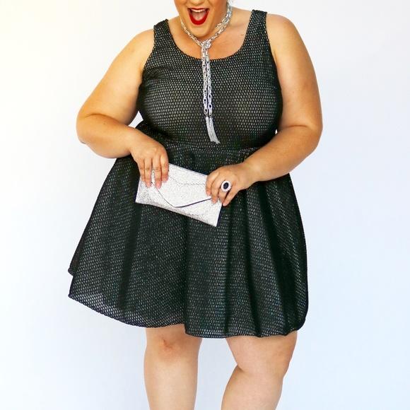 Charlotte Russe Dresses | Nwt Black Mesh Plus Size Dress 2x | Poshmark